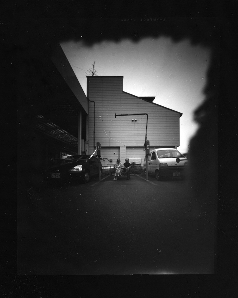 Pinhole portrait by Kioto of Tom and Mika, organizers of the Tokachi International Cultural Exchange Center