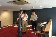 Mr. Souda and Kioto being interviewed for local newspaper, Tokachi Mainichi Shinbun